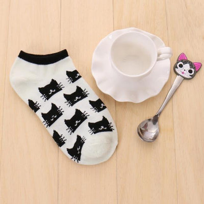 Socks - % 1pair Cute 3D Cartoon animal cat Socks Pattern Women Men kids Cotton Sock Female Socks Fashion Casual Cotton Short Socks - A1  jetcube