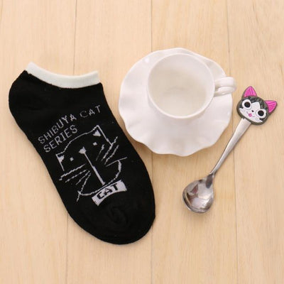 Socks - % 1pair Cute 3D Cartoon animal cat Socks Pattern Women Men kids Cotton Sock Female Socks Fashion Casual Cotton Short Socks - A3  jetcube