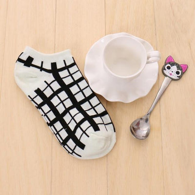 Socks - % 1pair Cute 3D Cartoon animal cat Socks Pattern Women Men kids Cotton Sock Female Socks Fashion Casual Cotton Short Socks - A4  jetcube