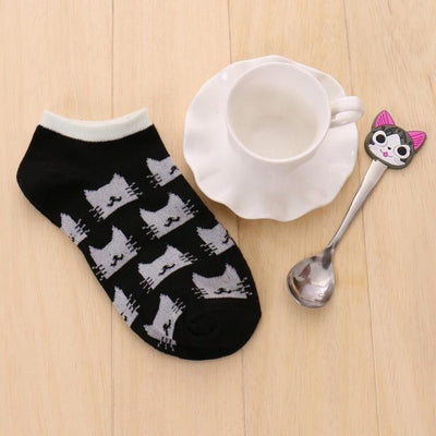 Socks - % 1pair Cute 3D Cartoon animal cat Socks Pattern Women Men kids Cotton Sock Female Socks Fashion Casual Cotton Short Socks - A5  jetcube
