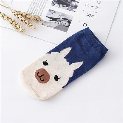 Socks - %  1pair 3D Cartoon animal dog Socks Women men Socks Fashion Boat Low Cut Style Woman Ankle Socks Casual Female girl boy gift - A  jetcube