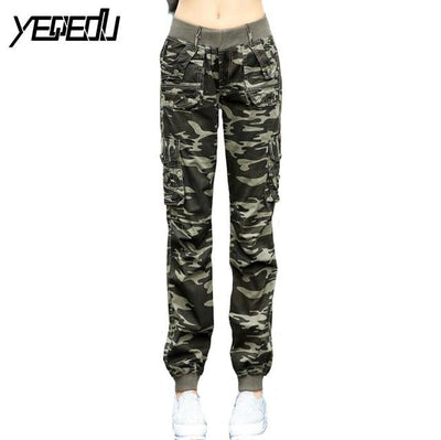 Pants & Capris - #0904 2017 Summer Camouflage pants women Cargo pants women Military trousers Fashion Casual Loose Baggy pants Army women S-XXXL - Army Green / S  jetcube