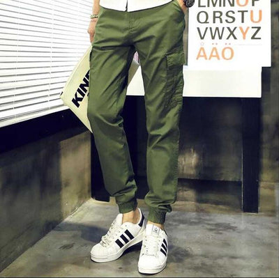 #2811 Mens pants casual fashion Khaki Harajuku Hip hop pants Baggy cargo pants men Large size Joggers men Loose Military pants - Jetcube