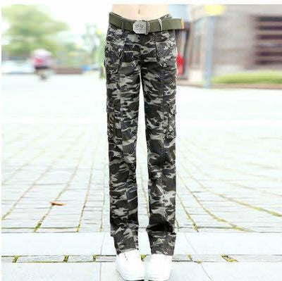#0905 Spring Summer 2017 Women camouflage pants Casual Female Fashion Military Hip hop trousers women Baggy Cargo pants women - Jetcube