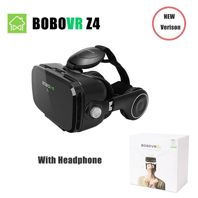 VR/AR Devices - (Ship From RU) BOBOVR Z4 Mini Virtual Reality 3D glasses Cardboard 120 Degrees FOV  VR Box Headset 3D with Bluetooth Remote - BOBOVR Z4  jetcube