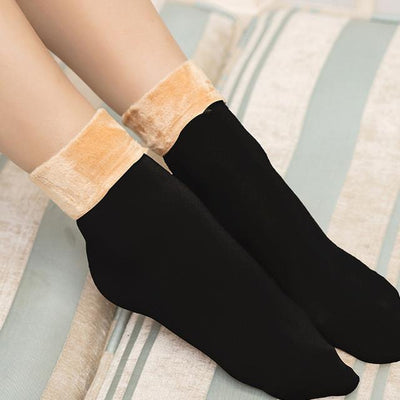 Socks - 1 pair Women Socks Winter Warm Thicken Socks Wool Home Snow Boots Cotton Socks Female Winter Velvet Floor Socks for Women 2017 - Beige  jetcube