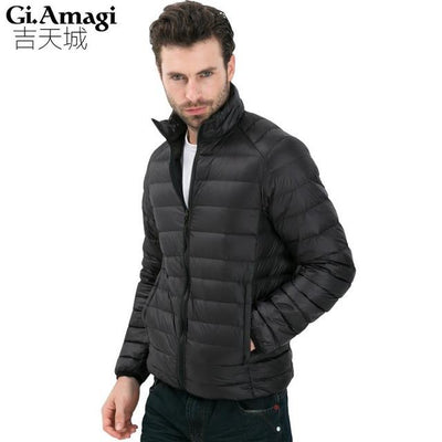 - 2016 Autumn Winter Duck Down Jacket, Ultra Light Thin plus size winter jacket for men Fashion mens Outerwear coat - Black / S  jetcube