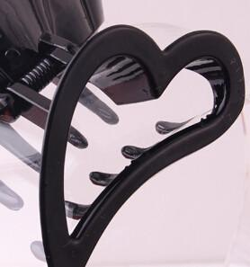 Hair Accessories - 2016 High-Quality Heart Shape Hair Claw Plastic Hair Crab Hair Accessories for Women Headwear Spring Joint Hair Clip Gripper - Black  jetcube