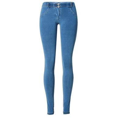 Mooishe Sexy Summer Women Low Waist Jeans Push Up High Stretch Skinny Slim Women Pencil Long Jeans Denim Pants