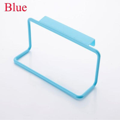 Kitchen Storage - 1Pc Candy Colors Over Door Tea Towel Holder Rack Rail Cupboard Hanger Bar Hook Bathroom Kitchen Top Home Organization - Blue  jetcube