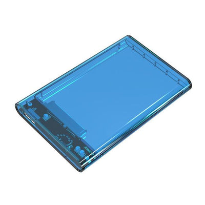 Digital Cables - 2.5 inch Transparent USB3.0 to Sata 3.0 HDD Case Tool Free 5 Gbps Support 2TB UASP Protocol Hard Drive Enclosure - (2139U3) - Blue  jetcube