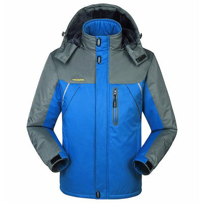 Jacket - -30 C FIT Plus Thick Velvet Down & Parka coat 6XL 7XL 8XL 2017 winter jacket men waterproof windproof chaquetas hombre - Blue / M  jetcube