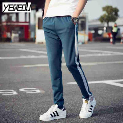 #1641 Spring/Fall Side striped sweatpants for men Slim Big size 5XL Joggers Pantalon homme Track pants Sweat Pantalones hombre - Jetcube