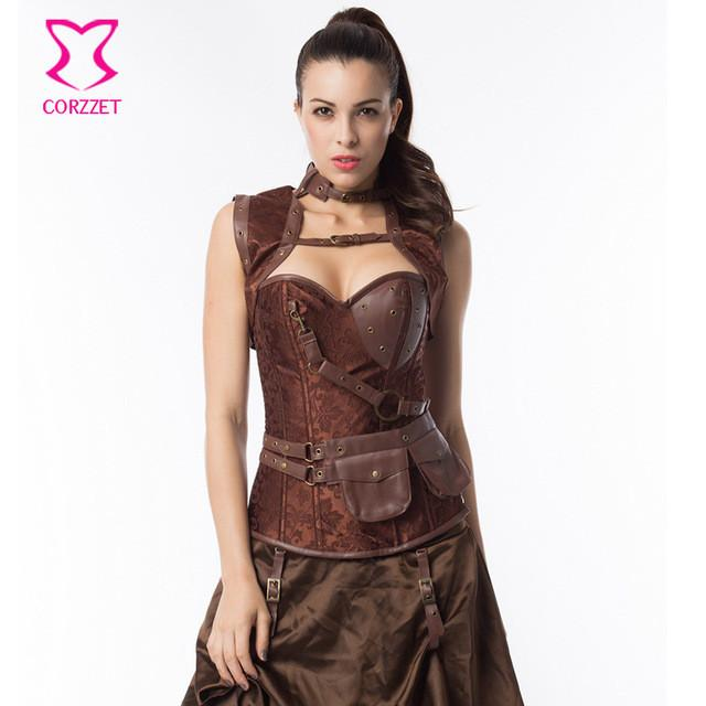 de1144e1c 6XL Sexy Corpetes E Espartilhos Plus Size Steampunk Corset Gothic Clothing  Steel Boned Corsets And Bustiers