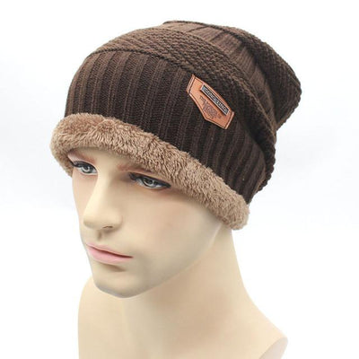 Skullies & Beanies - 2016 fashion Knit Beanie  warmer Knitted Winter Hats For Men women Caps warm Bonnet  Free Shipping - Brown  jetcube