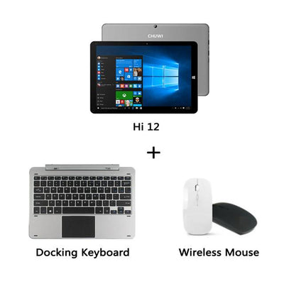 Laptop - 12 inch Tablet PC CHUWI Hi12 Dual OS 4GB RAM DDR3 Intel Z8350/64GB ROM Wifi HDMI OTG Micro USB3.0 Mini Windows Tablet Laptop - Bundle 2  jetcube