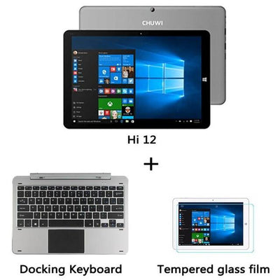 Laptop - 12 inch Tablet PC CHUWI Hi12 Dual OS 4GB RAM DDR3 Intel Z8350/64GB ROM Wifi HDMI OTG Micro USB3.0 Mini Windows Tablet Laptop - Bundle 3  jetcube