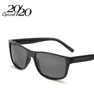 Sunglasses - 20/20 Sunglasses Men Classic Carbon Fiber Polarized Glasses For Man Brand Driving Eyewear Coulos Masculino PL271 - C01 Black Smoke  jetcube