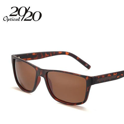 Sunglasses - 20/20 Sunglasses Men Classic Carbon Fiber Polarized Glasses For Man Brand Driving Eyewear Coulos Masculino PL271 - C03 Leopard Brown  jetcube