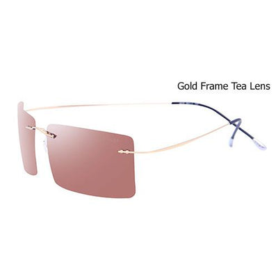 Sunglasses - 2016 Fashion Tinize Titanium Ultra Light Rimless Polarized Driving Mens Sunglasses Square Sun Glasses Gafas De Sol Hombre - C3  jetcube