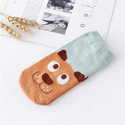 Socks - %  1pair 3D Cartoon animal dog Socks Women men Socks Fashion Boat Low Cut Style Woman Ankle Socks Casual Female girl boy gift - C  jetcube