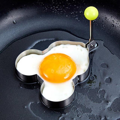 Drinkware - 1Pc Stainless Steel Egg Pancake Maker Egg Mold Cooking Tools Ring Heart Flower Kitchen Gadget Pancake Mold - Cartoon  jetcube