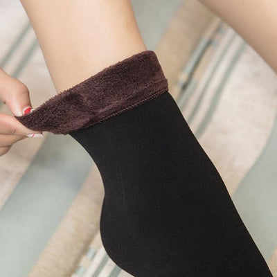 Socks - 1 pair Women Socks Winter Warm Thicken Socks Wool Home Snow Boots Cotton Socks Female Winter Velvet Floor Socks for Women 2017 - Coffee  jetcube