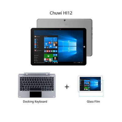 "2 in 1 Tablets - 12""Chuwi HI12 Dual OS tabet PC Windows 10+Android 5.1 Quad Core 4GB RAM 64GB ROM Intel Z8350 Tablet  PC 2160*1440 Tablet - D  jetcube"