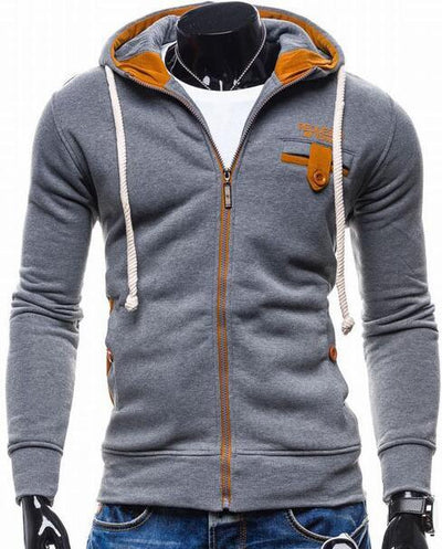 - 2016 Hoodies Men Sudaderas Hombre Hip Hop Mens Brand Cowl Spell Color Trend Hoodie Sweatshirt Slim Fit Men Hoody XXL - Dark Gray / M  jetcube