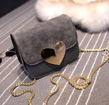 Shoulder Bags - !evening bag Peach Heart bag women pu leather handbag Chain Shoulder Bag messenger bag fashion women clutches YK40-906 - Dark Grey  jetcube