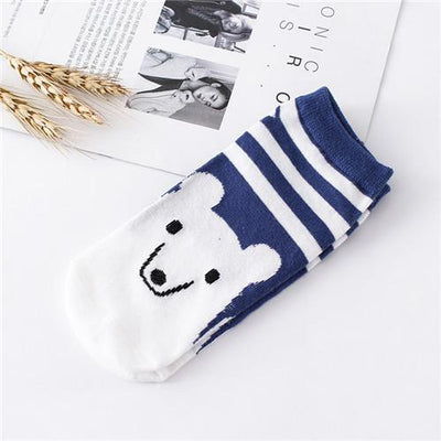 Socks - %  1pair 3D Cartoon animal dog Socks Women men Socks Fashion Boat Low Cut Style Woman Ankle Socks Casual Female girl boy gift - E  jetcube