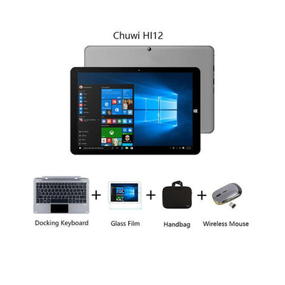 "2 in 1 Tablets - 12""Chuwi HI12 Dual OS tabet PC Windows 10+Android 5.1 Quad Core 4GB RAM 64GB ROM Intel Z8350 Tablet  PC 2160*1440 Tablet - E  jetcube"
