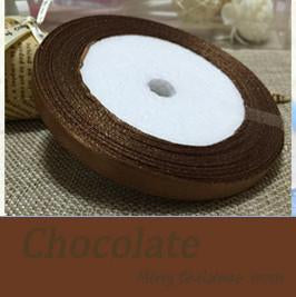 Cross-Stitch - (25 yards/roll ) 6mm Single Face Satin Ribbon Wholesale gift packing Christmas ribbons - Gold  jetcube