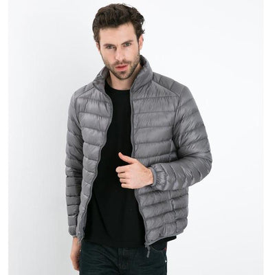 - 2016 Autumn Winter Duck Down Jacket, Ultra Light Thin plus size winter jacket for men Fashion mens Outerwear coat - Gray / S  jetcube