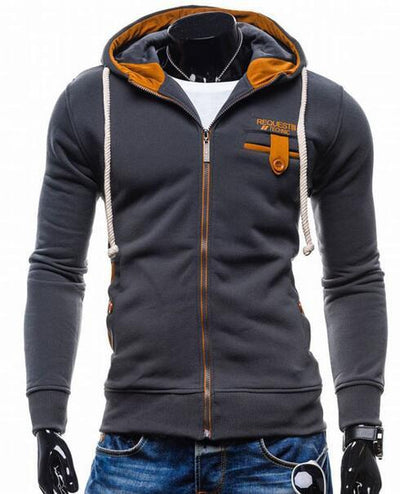 - 2016 Hoodies Men Sudaderas Hombre Hip Hop Mens Brand Cowl Spell Color Trend Hoodie Sweatshirt Slim Fit Men Hoody XXL - Gray iron / M  jetcube