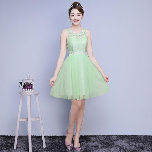 ZXC2XB#Model show 2016 new spring bridesmaids dresses short wedding bridesmaid dress sisters graduation toastp dress champagne