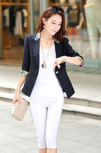 Fashion Elegant Business Formal Office Suits Wear Thinner Women Long