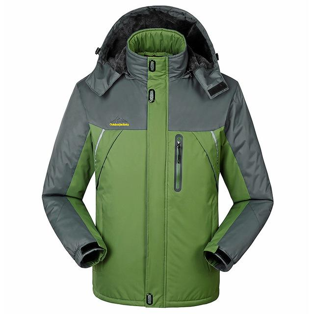 Jacket - -30 C FIT Plus Thick Velvet Down & Parka coat 6XL 7XL 8XL 2017 winter jacket men waterproof windproof chaquetas hombre - Green / M  jetcube