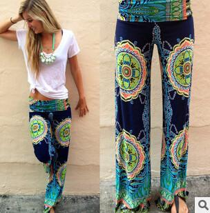 Pants & Capris - 2015 Spring and autumn Fashion women's  causal sporty wide leg pants Floral SWEATPANTS  females fashion Loose Trousers -   jetcube