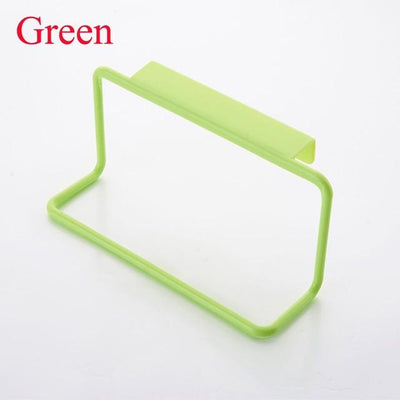Kitchen Storage - 1Pc Candy Colors Over Door Tea Towel Holder Rack Rail Cupboard Hanger Bar Hook Bathroom Kitchen Top Home Organization - Green  jetcube