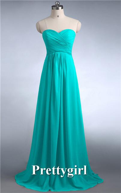 Bridesmaid Dresses - 0039 wine red colored chiffon strapless prom party dresses new fashion 2013 bridesmaid dress long - Ice Blue 11 / 6  jetcube