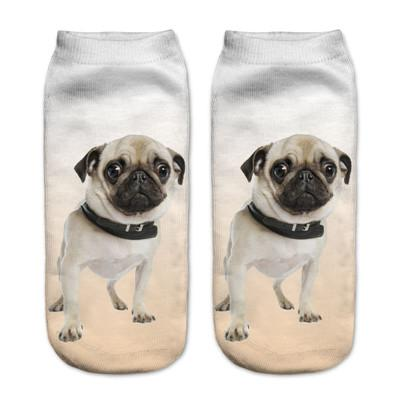Socks - $0.99 A Pair 21 Style New 3D Socks Women Fashion Single Side Printing Men Cotton Socks Unisex Socks Pattern Meias Feminina Socks - J2574  jetcube