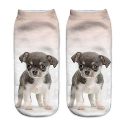 Socks - $0.99 A Pair 21 Style New 3D Socks Women Fashion Single Side Printing Men Cotton Socks Unisex Socks Pattern Meias Feminina Socks - J2584  jetcube