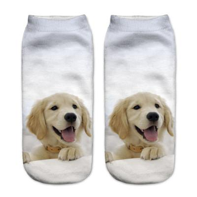 Socks - $0.99 A Pair 21 Style New 3D Socks Women Fashion Single Side Printing Men Cotton Socks Unisex Socks Pattern Meias Feminina Socks - J2589  jetcube