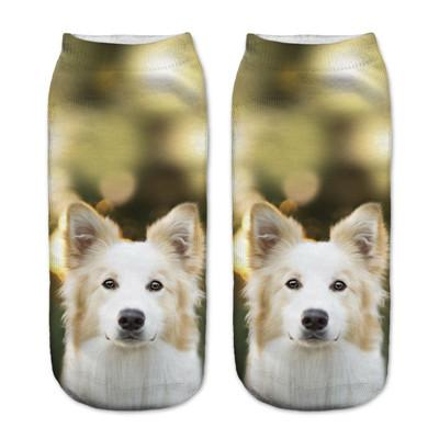 Socks - $0.99 A Pair 21 Style New 3D Socks Women Fashion Single Side Printing Men Cotton Socks Unisex Socks Pattern Meias Feminina Socks - J2593  jetcube