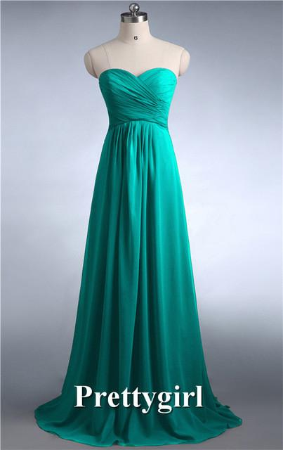 Bridesmaid Dresses - 0039 wine red colored chiffon strapless prom party dresses new fashion 2013 bridesmaid dress long - Jade Green 131 / 6  jetcube