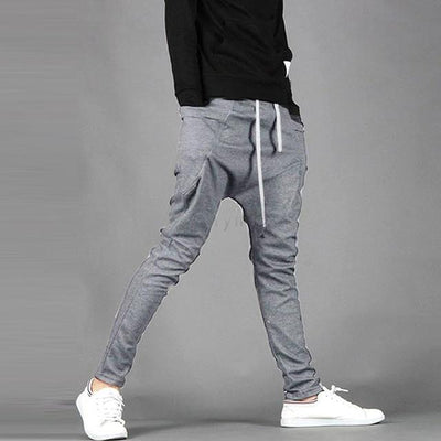 Pants - 2014 Spring Summer New Men's Casual Trousers Fashion Narrow Feet Drop Crotch Pants Mens Hip Hop Harem Sweatpants 25 - Light Gray / M  jetcube