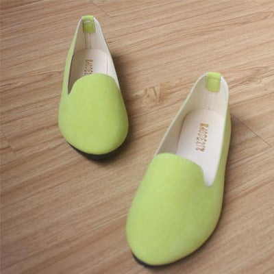 Women's Pumps - 18 Colors 2016 retro style women casual outdoor candy colors suede CASUAL work lady point toe slip round toe shoes  #XE28 - Light Green / 10  jetcube