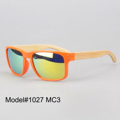 Sunglasses - #1207 man's bamboo nature sunglasses UV400 Polarized lens with spring hinge 6 color choice - MC3  jetcube