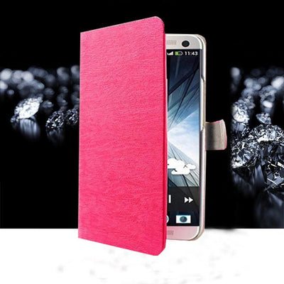 "Fitted Cases - (3 Styles) Flip For Wiko U Feel Lite Case Fashion Pu Leather Flip Cover Capa For Wiko UFeel Lite 5.0"" Fundas Coque Stand Case - MW Rose  jetcube"
